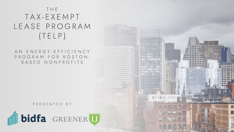 TELP offers energy-efficiency financing for Boston-based nonprofits